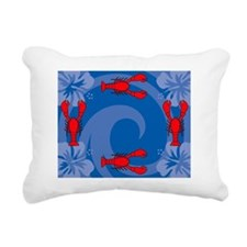 Lobster Picture Frame Rectangular Canvas Pillow