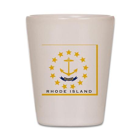 Rhode Island State Flag Shot Glass