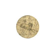 Vintage Aries Celestial Map Mini Button