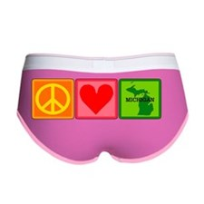 Peace Love Michigan Women's Boy Brief
