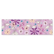 FlowerBotanical_Lilac_Large Bumper Sticker