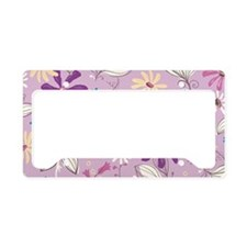 FlowerBotanical_Lilac_Large License Plate Holder
