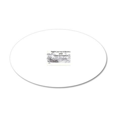 Landscape Architect 20x12 Oval Wall Decal