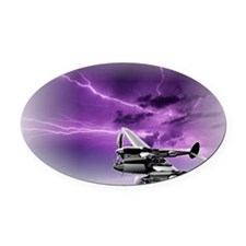P 38 Lightning Oval Car Magnet