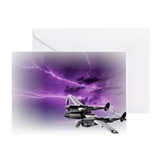 P 38 Lightning Greeting Card