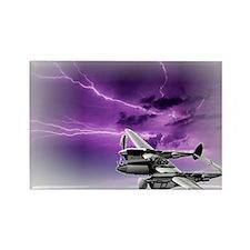 P 38 Lightning Rectangle Magnet
