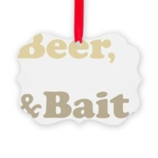 Beer Boats Bait Fishing Ornament