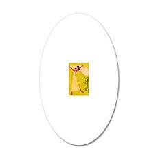 Goddess 20x12 Oval Wall Decal