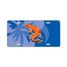 Newt Patches Aluminum License Plate