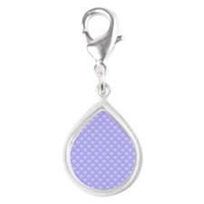 1 periwinkle for twin Silver Teardrop Charm