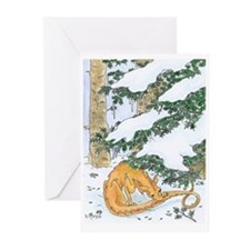 Snow Dragon II Greeting Cards