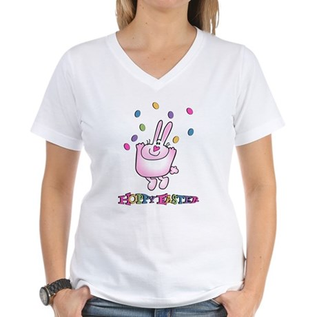 Hoppy Easter Women's V-Neck T-Shirt