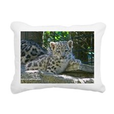 Baby Snow Leopard Rectangular Canvas Pillow