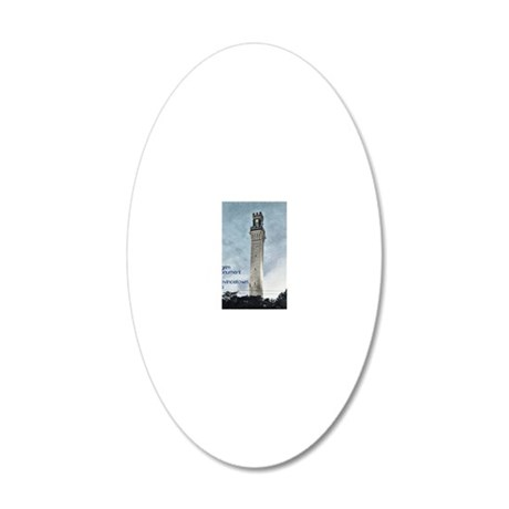 Pilgrim Monument - Blue 20x12 Oval Wall Decal