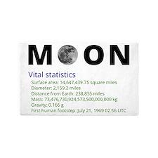 Moon facts 3'x5' Area Rug