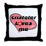 cristofer loves me  Throw Pillow