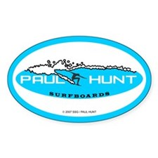 Paul Hunt Surfboards Oval Decal