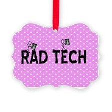 Rad tech necklace pink Ornament