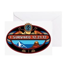 I Survived 12.21.12! Greeting Card