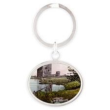 Scotland Threave Castle Oval Keychain