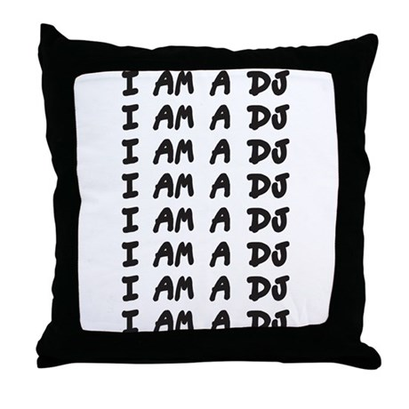 I Am A DJ Throw Pillow