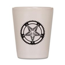 Pentagram Chainring Shot Glass