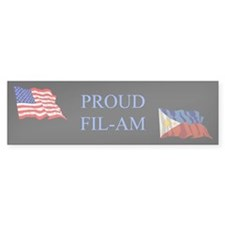 Proud Filipino #2 Gifts Bumper Bumper Sticker