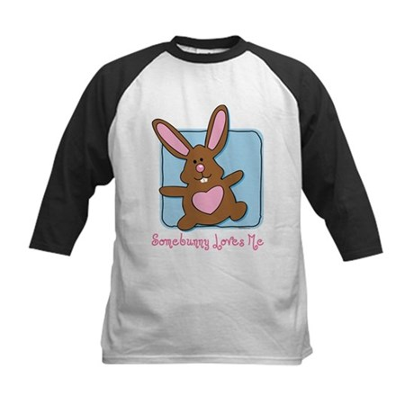 Somebunny Loves Me Kids Baseball Jersey
