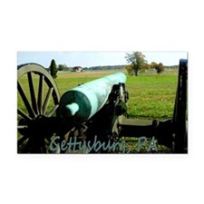 Canon on Battlefield, Gettysb Rectangle Car Magnet