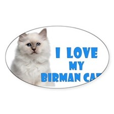 Birman Cat Car Magnet Decal
