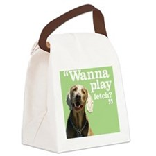 Fetch Dog Canvas Lunch Bag