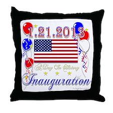 1-21-2013 Inauguration Throw Pillow
