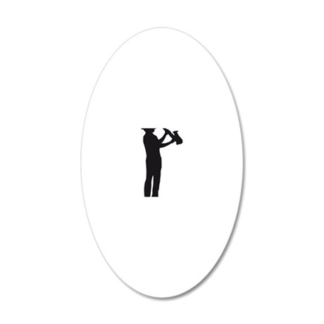 saxophon player 20x12 Oval Wall Decal