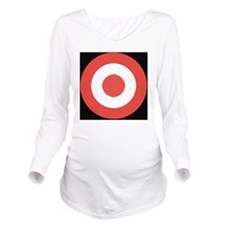 Bullseye Long Sleeve Maternity T-Shirt