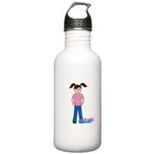 Girls can't WHAT? Pink Water Bottle