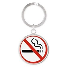 No smoking Round Keychain