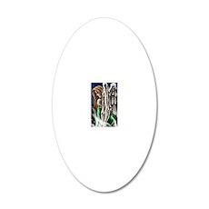 Seraphic Digital Sketch 20x12 Oval Wall Decal