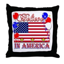 Believe In America Throw Pillow