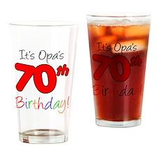 Opa 70th Birthday Drinking Glass