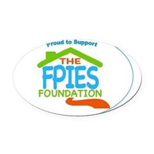 Proud to Support The FPIES Foundat Oval Car Magnet