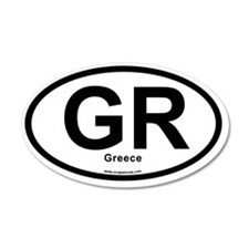 GR - Greece oval Wall Decal