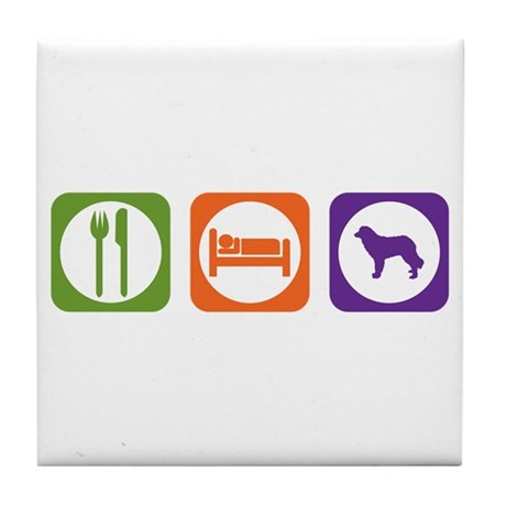 Eat Sleep Estrela Tile Coaster
