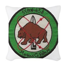 uss mariano g. vallejo patch t Woven Throw Pillow