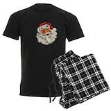 Christmas santa believe Men's Pajamas Dark