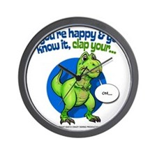 If Youre Happy Wall Clock