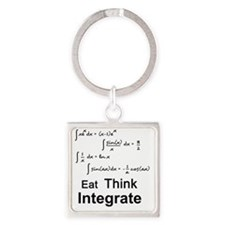 Eat. Think. Integrate. Square Keychain