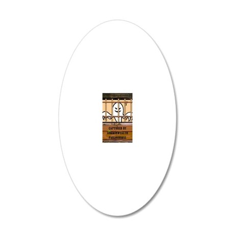 Captured Ghost 20x12 Oval Wall Decal