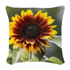 Sun Flower Woven Throw Pillow
