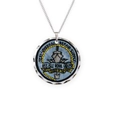 uss isle royale patch transp Necklace