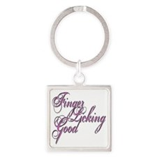 Finger Licking Good Square Keychain